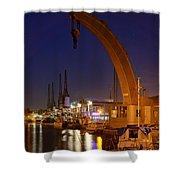 Steam Crane And Cranes, Bristol Harbour Shower Curtain