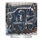 Steam Engine Wheels Shower Curtain