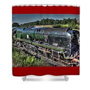 Steam Locomotive 34027 The Taw Valley Shower Curtain