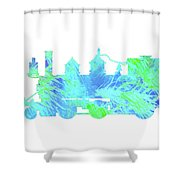 Steam Locomotive Art 3 Shower Curtain