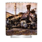 Steam Locomotive Shower Curtain