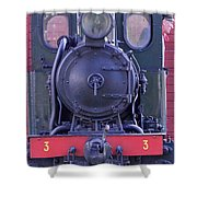 Steam Locomotive Train Shower Curtain