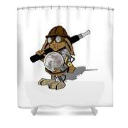Steam Rabbit Shower Curtain