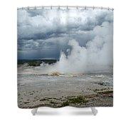 Steam Rising Shower Curtain