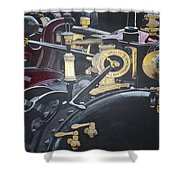 Steam Tractor Shower Curtain