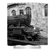 Steam Train In Station Shower Curtain