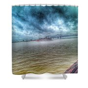 Steamboat In The Fog Shower Curtain