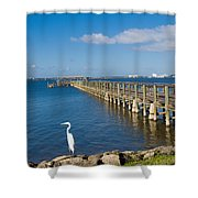 Steamboat Landing Ot Melbourne Beach In Florida  Shower Curtain