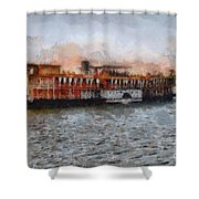 Steamboat On The Nile Shower Curtain