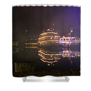 Steamboat Reflections Shower Curtain