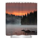 Steaming Lake Shower Curtain
