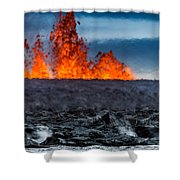 Steaming Lava And Plumes Shower Curtain