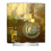 Steaming Up Mining Country Shower Curtain