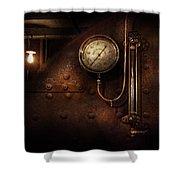 Steampunk - Boiler Gauge Shower Curtain by Mike Savad
