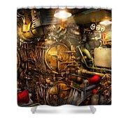 Steampunk - Naval - The Torpedo Room Shower Curtain