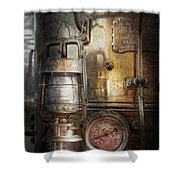 Steampunk - Silent Into The Night Shower Curtain