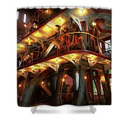 Steampunk - Allis Does All The Work Shower Curtain
