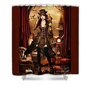 Steampunk Girl Shower Curtain