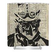 Steampunk Guy Shower Curtain