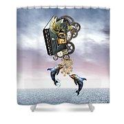 Steampunk Ocean Tale Shower Curtain