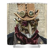 Steampunk Robot Shower Curtain