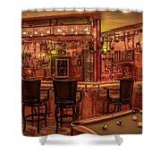 Steampunk Speakeasy Mancave Bar Art Shower Curtain