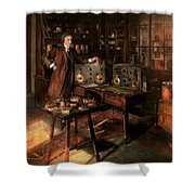 Steampunk - The Time Traveler 1920 Shower Curtain