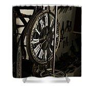 Steampunk - Timekeeper Shower Curtain