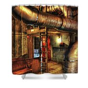 Steampunk - Where The Pipes Go Shower Curtain