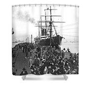 Steamship In Japan Shower Curtain