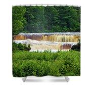 Steamy Lower Tahquamenon  Shower Curtain