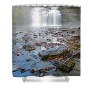 Steamy Morning At Pixley Falls Shower Curtain