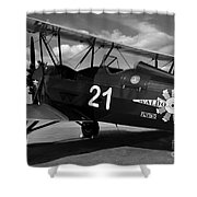 Stearman Biplane Shower Curtain