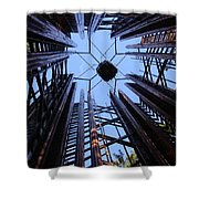 Steel And Sky Shower Curtain