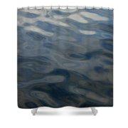 Steel Blue Shower Curtain by Donna Blackhall