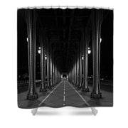Steel Colonnades In The Night Shower Curtain