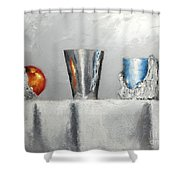 Steel Cup Shower Curtain