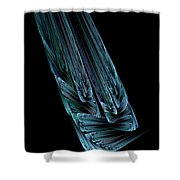 Steel Feathers Shower Curtain