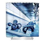 Steel Mechanic Hardware Shower Curtain