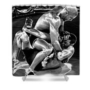 Steel Men Fighting 5 Shower Curtain