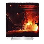 Steel Mill--china Shower Curtain