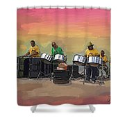 Steel Pan Players Antigua Shower Curtain