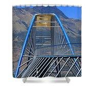 Steel Pedestrian Bridge In Ibarra Shower Curtain