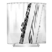 Steel Stihl Bar Shower Curtain