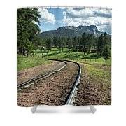 Steel Tracks In The Black Hills Shower Curtain
