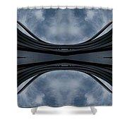 Steel Waves Shower Curtain