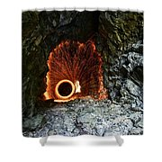 Steel Wool Photography In A Cave Shower Curtain