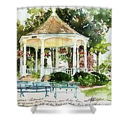 Steele Memorial Bandstand Shower Curtain
