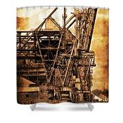 Steelmill Boatdock Cranes Detroit Shower Curtain