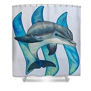 Steemit Dolphin Shower Curtain